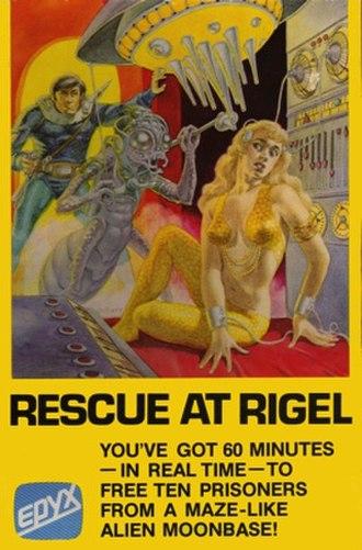 Rescue at Rigel - Atari 8-bit family cover art