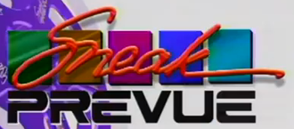 Sneak Prevue - Sneak Prevue logo used from 1996 to 1999.