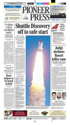 St. Paul Pioneer Press front page.jpg