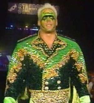Starrcade (1990) - Sting, the NWA World Heavyweight Champion, at Starrcade