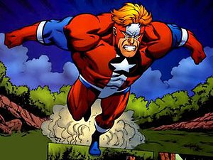 Commander Steel - Hank Heywood III as the second Steel. Art by Tom Derenick.