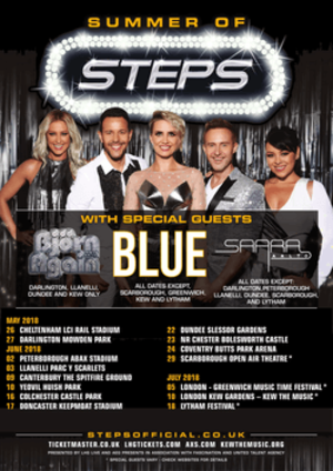Summer of Steps Tour - Image: Steps Summer of Steps Tour Promotional Poster