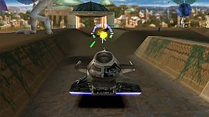 Star Wars: Demolition - Star Wars: Demolition features familiar Star Wars characters and locales in a vehicular combat competition.