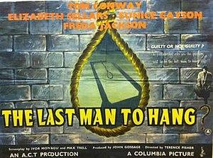 The Last Man to Hang? - Original British quad poster