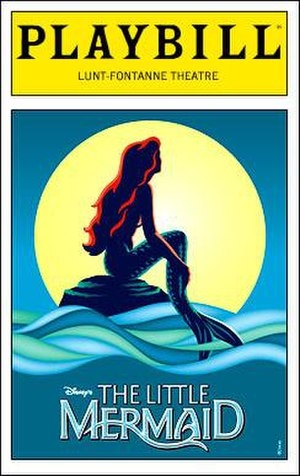 The Little Mermaid (musical) - Playbill cover at the Lunt-Fontanne Theatre
