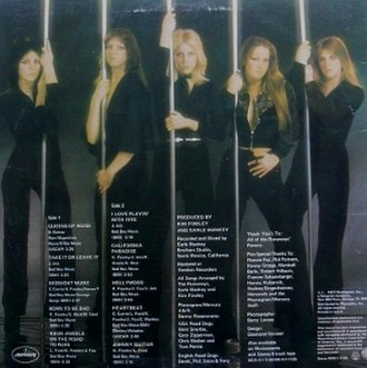Queens of Noise - The back cover of Queens of Noise, featuring the image that was originally intended for the front cover of the album.