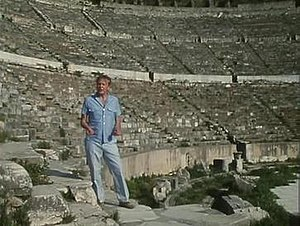 "The First Eden - Attenborough in the Great Theatre of Ephesus, from a scene in ""The Gods Enslaved"""