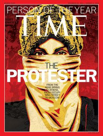 "Western media - In 2011, ""The Protester"" was named ""Person of the Year"" by Time magazine, one of the most influential magazines in the Western world"