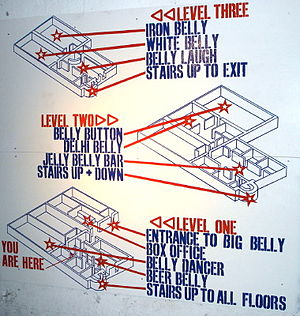 Underbelly (venue) - The floor plan for Underbelly.