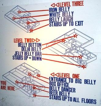 Underbelly (venue) - The floor plan for Underbelly.