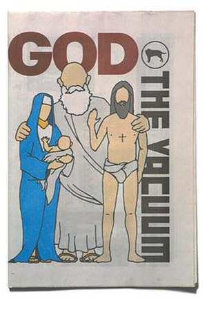 The Vacuum - The Cover of the 'God' issue of the Vacuum which, along with the 'Satan' issue caused protests in Belfast City Council.