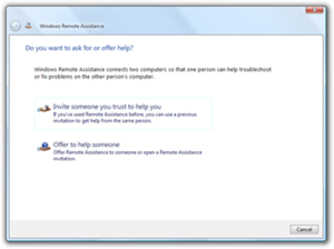 Quick Assist - Remote Assistance in Windows Vista