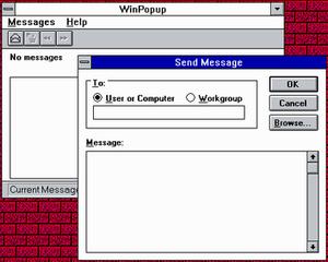 Windows Messenger service - Image: Winpopup win 311
