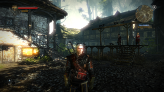 The Witcher 2: Assassins of Kings - Screenshot of Geralt in the opening part of the game