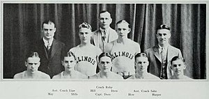 1928–29 Illinois Fighting Illini men's basketball team - Image: 1928–29 Illinois Fighting Illini men's basketball team