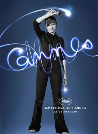 2010 Cannes Film Festival - The festival's official poster featuring French actress Juliette Binoche