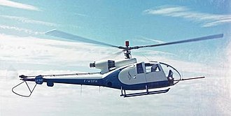 Aérospatiale Gazelle - The SA 340 Gazelle prototype in 1967 with its original conventional tail rotor