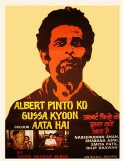 <i>Albert Pinto Ko Gussa Kyoon Aata Hai</i> 1980 film by Saeed Akhtar Mirza