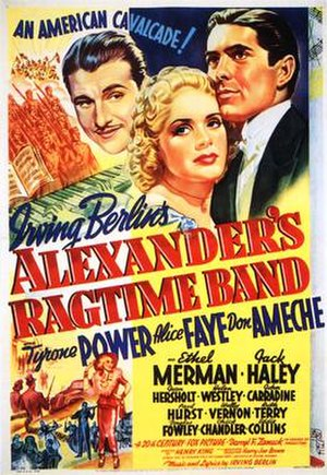 Alexander's Ragtime Band (film) - Theatrical release poster