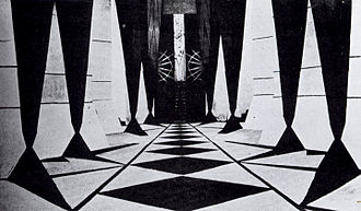 Algol (film) - A still from Algol showing the futuristic scenography created by Walter Reimann, also production designer of Caligari