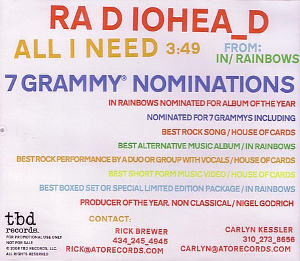 All I Need (Radiohead song) - Image: All I Need Radiohead
