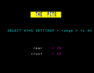 Revs (video game) - Player wing settings