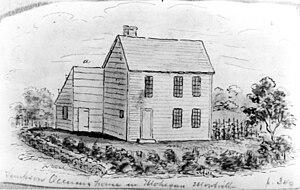 Samson Occom - Occom's Mohegan home, by John W. Barber