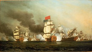 George Anson, 1st Baron Anson - Anson's victory at the First Battle of Cape Finisterre in May 1747 during the War of the Austrian Succession