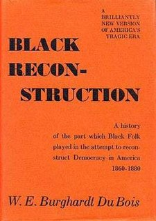 <i>Black Reconstruction in America</i> book by William Edward Burghardt Du Bois