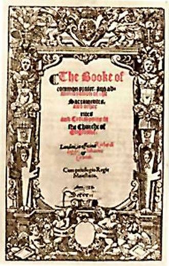 Book of Common Prayer - Prayer book of 1559.