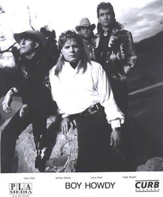 Boy Howdy - Boy Howdy promotional image. L-R: Cary Park, Jeffrey Steele, Larry Park, Hugh Wright.
