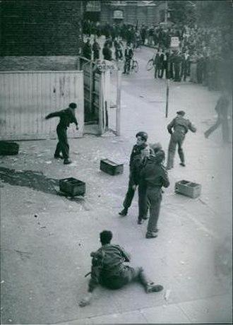 Aldershot riot (1945) - Canadian troops riot on the High Street in Aldershot in July 1945