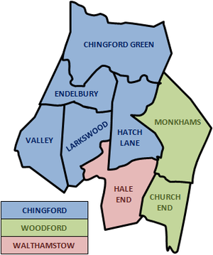 Chingford and Woodford Green (UK Parliament constituency) - Wards of the constituency (not affected by 2010 boundary changes)