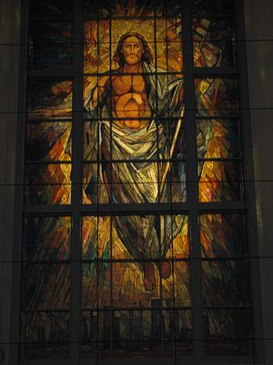Co-Cathedral of the Sacred Heart (Houston) - The Resurrection window