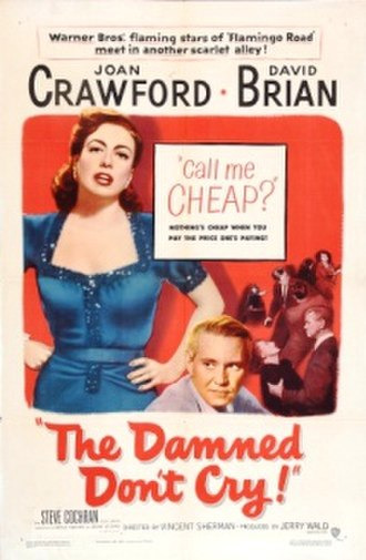 The Damned Don't Cry - Image: Damned don't cry poster 1950