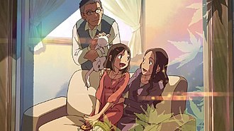 Dareka no Manazashi - The importance of family bonds was a key theme for the film.