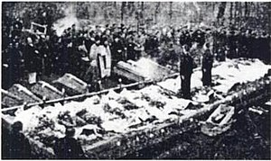 Iron Guard death squads - The Decemviri and Nicadori, along with Codreanu, were exhumed and given a lavish burial service in November 1940.
