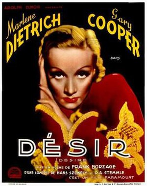 Desire (1936 film) - Theatrical French Poster