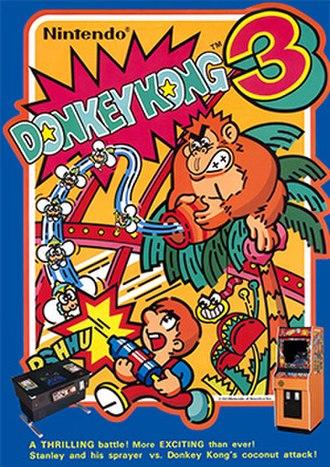 Donkey Kong 3 - European arcade flyer