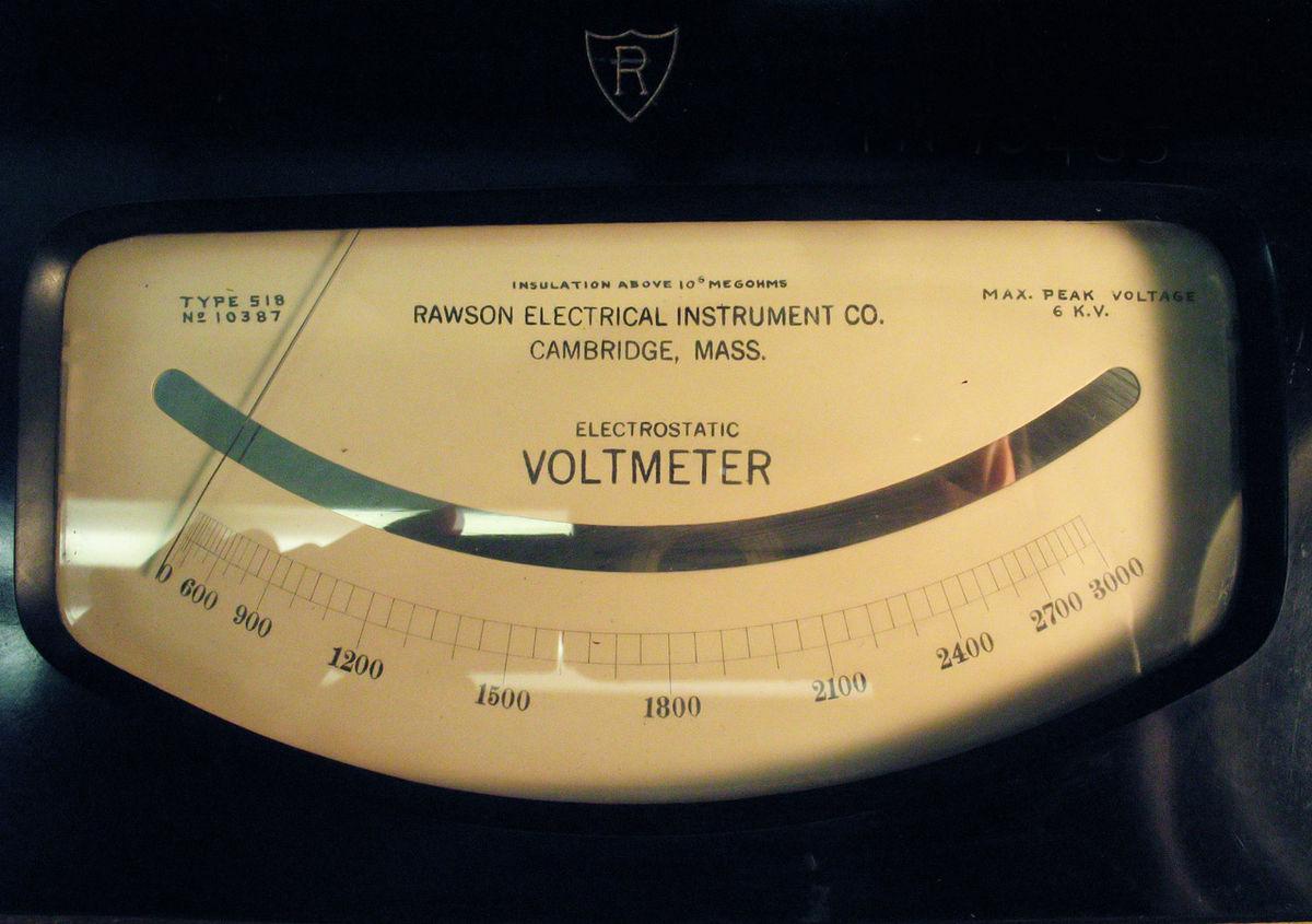 Electrostatic Voltmeter Wikipedia Meter Wiring Diagram Usefulldatacom Ammeter Schematic And