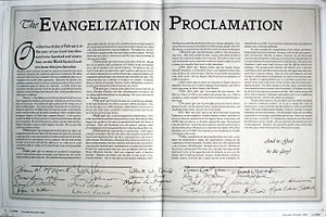 International Churches of Christ - The Evangelization Proclamation, issued in 1994, pledged that the ICOC would establish a church in every major country within six years.