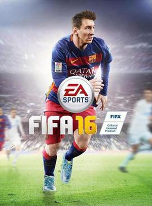 FIFA 16 - Global cover art featuring Lionel Messi