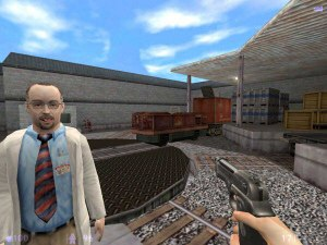 Half-Life: Blue Shift - Blue Shift is the first game in the Half-Life series to feature consistent interaction with a single non-player character, Dr Rosenberg