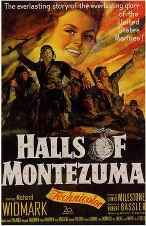 Halls of Montezuma (film) - Theatrical release poster