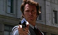 "Eastwood as Inspector ""Dirty"" Harry Callahan in Dirty Harry (1971)."