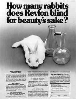 Henry Spira - Spira took out this ad in The New York Times on 15 April 1980, leading Revlon to begin the search for alternatives to the Draize test.