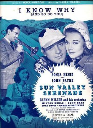 I Know Why (And So Do You) - 1941 sheet music cover featuring Glenn Miller, Leo Feist, New York.