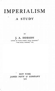 <i>Imperialism</i> (Hobson) politico–economic discourse by John A. Hobson about imperialism