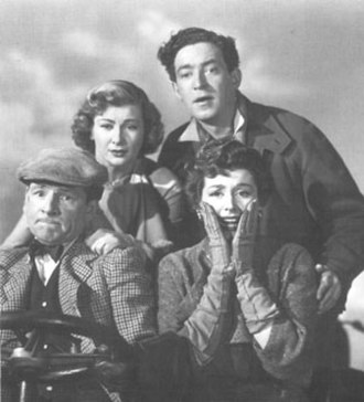 John Gregson - John Gregson (top) with Dinah Sheridan, Kenneth More and Kay Kendall in Genevieve