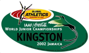 2002 World Junior Championships in Athletics - Image: Kingston 2002logo